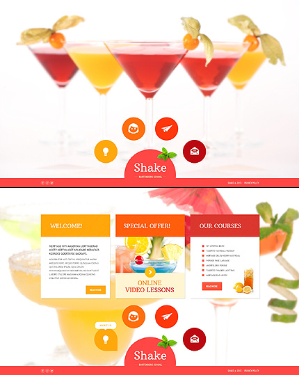 Template 46558 - Bartenders School Website Template