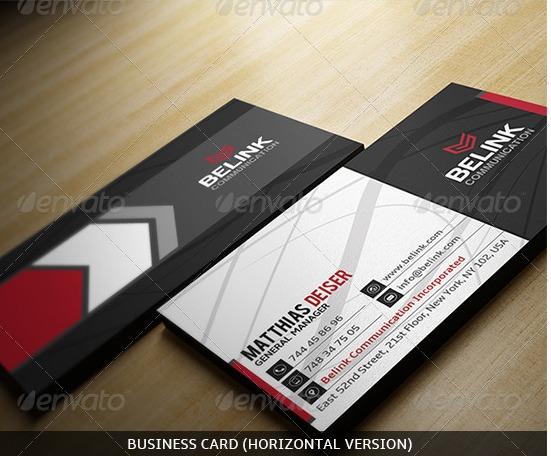 modern business-card-horizontal