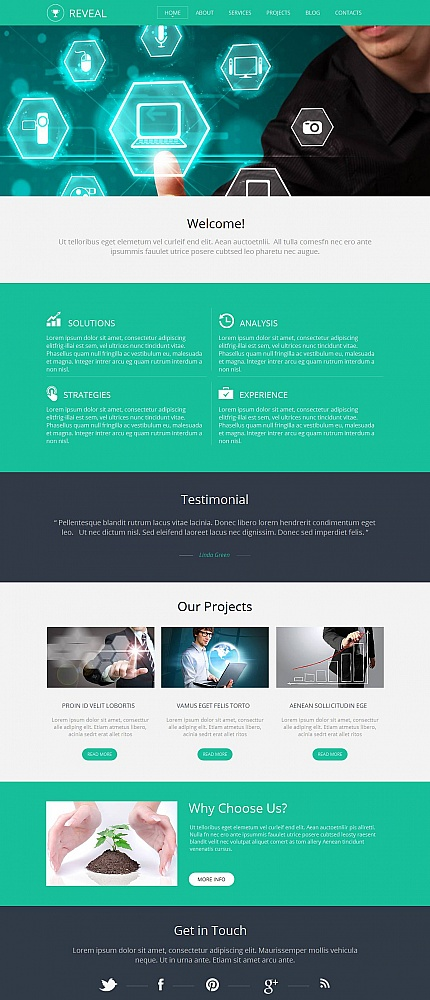 Template 48848 - Green & Grey Business Moto CMS HTML Template