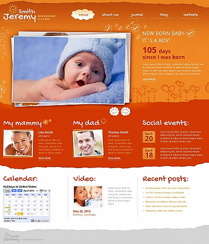 Template 49039 - Baby Moto CMS HTML Template