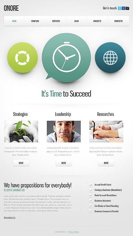 Template 39644 - Modern Business WordPress Template