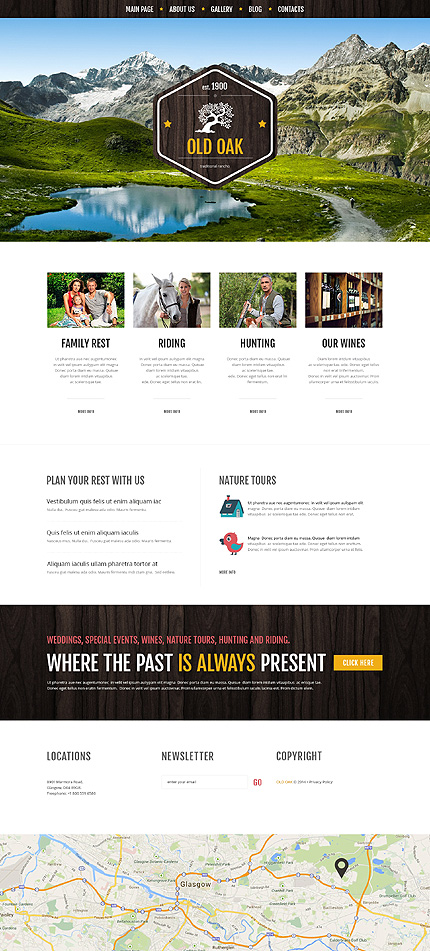 Template 51223 - Traditional Ranch Responsive WordPress Theme with Portfolio and Blog