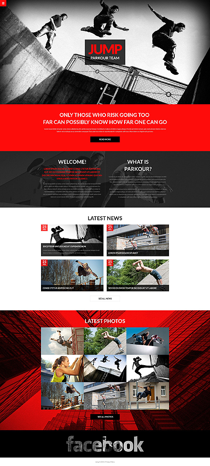 Template 51385 - Jump Bootstrap Responsive Website Template