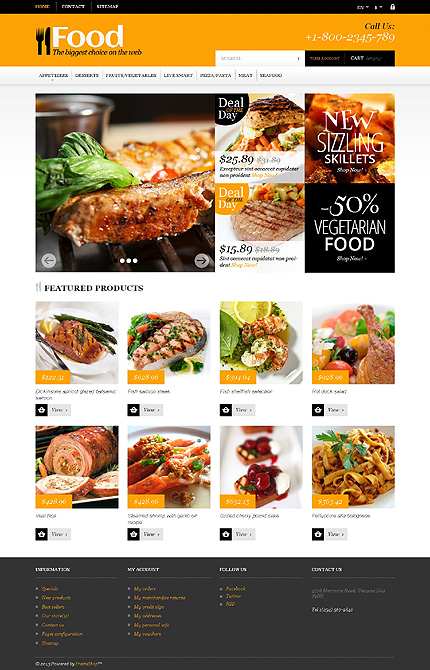 Template 47837 - Food Online Responsive PrestaShop Theme with Slider, Carousel, Product Slideshows with Zoom