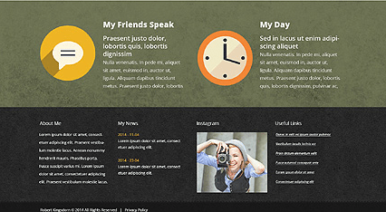 Footer for Template 50663 - Creative Personal Page Responsive WordPress Theme