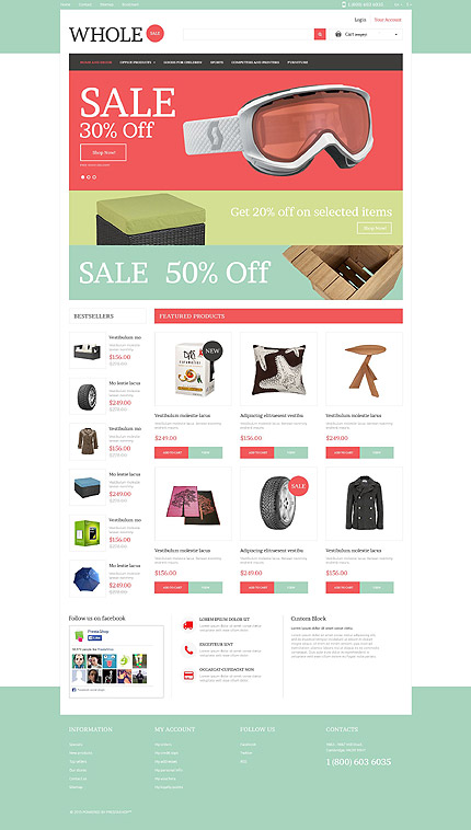 Template 53282 - Whole Sale Responsive PrestaShop Theme