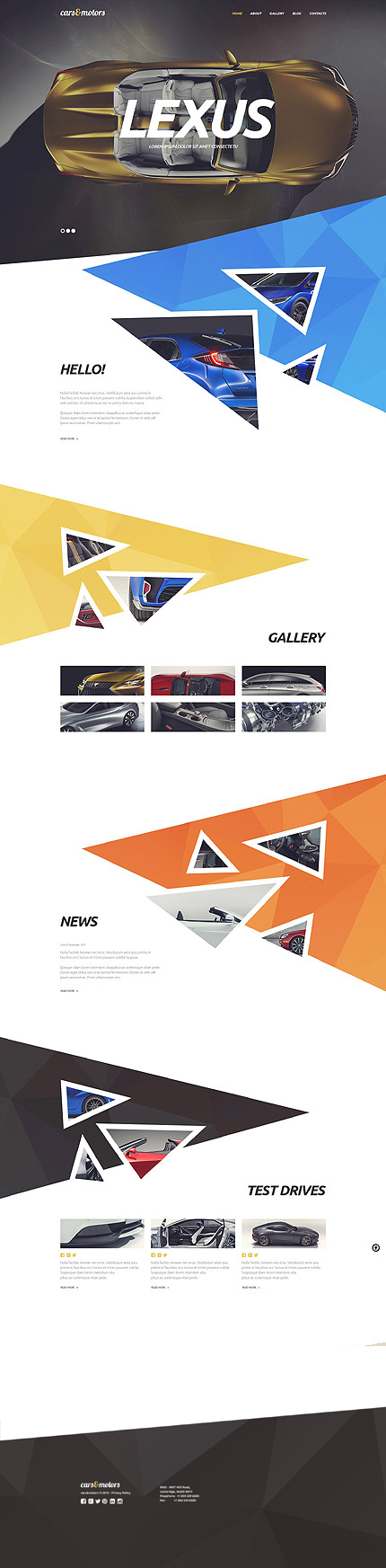 Cars & Motors Responsive WordPress Theme with Parallax and Lazy Load Effect