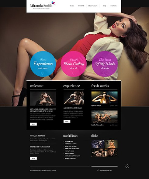 Template 45815 - Fashion Responsive Joomla Template with Colorful Circles, Homepage Slider, Gallery and Blog