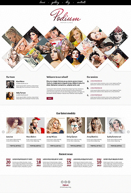 Template 46832 - Fashion Responsive Joomla Template with Bootstrap, Grid Photo Collage, Content Carousel, Gallery and Blog