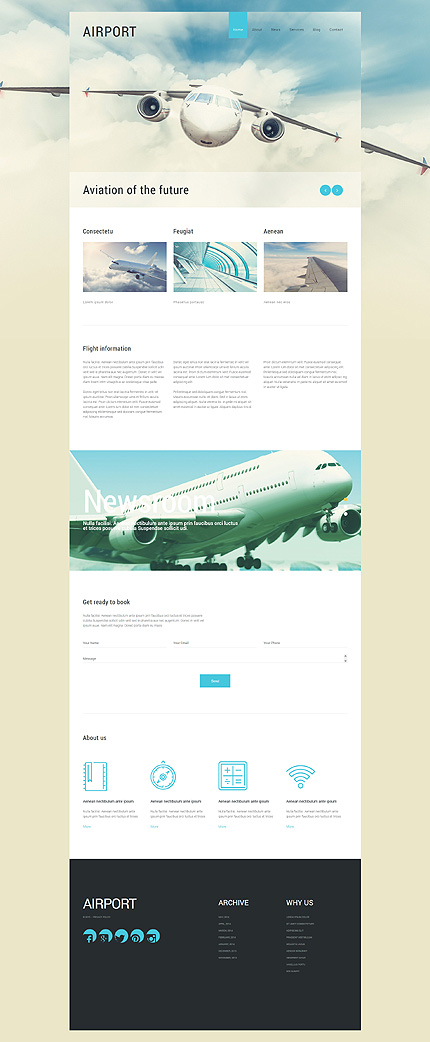 Template 55272 - Private Airlines Responsive Joomla Template
