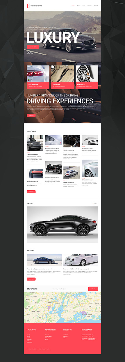 Template 55282 - Car Portal Responsive Website Template with Sliders, Parallax, Lazy Load, Add-On Portfolio