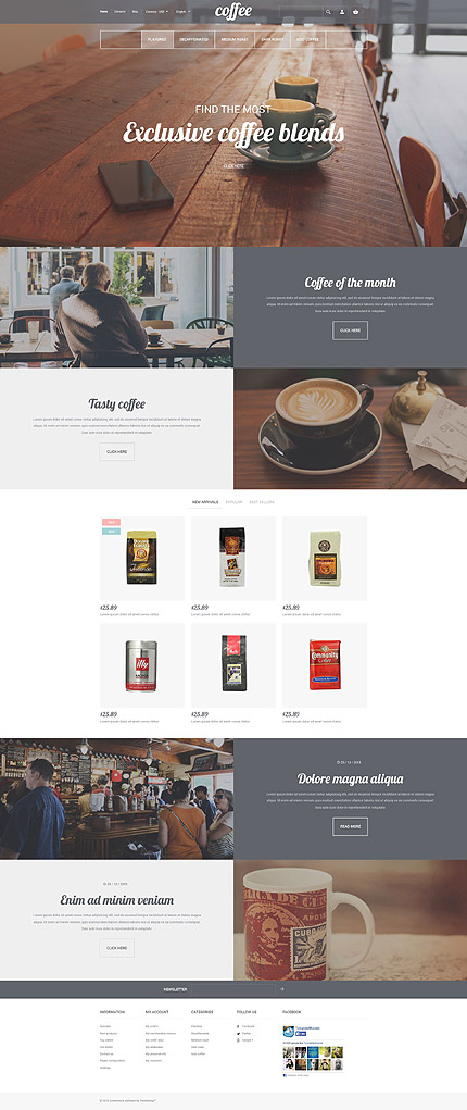Template 56108 - Coffee Store Responsive PrestaShop Theme