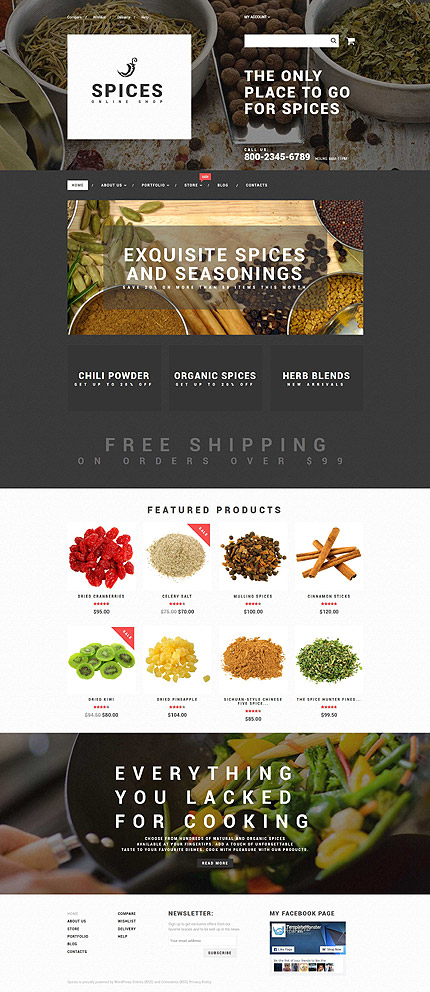 Template 55606 - Spices Responsive WooCommerce Theme