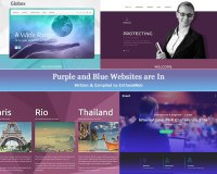 Purple and Blue Websites are In