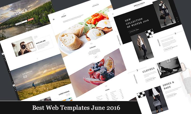 Best Web Templates june 2016
