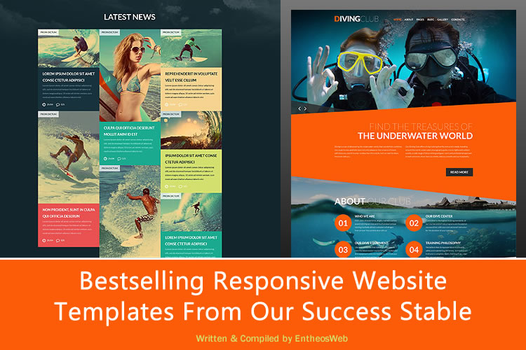 Bestselling Responsive Website Templates From Our Success Stable