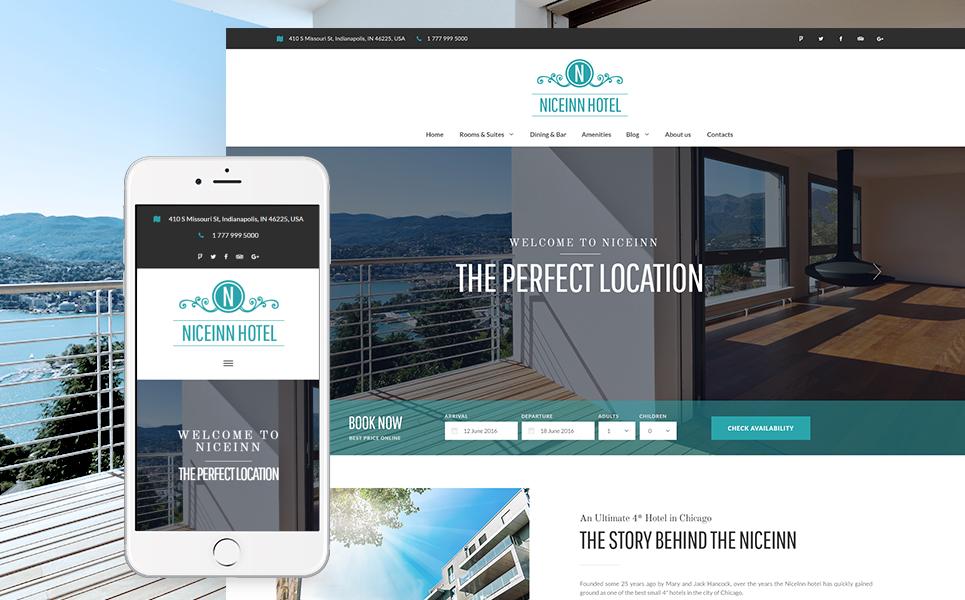 NiceInn - Small Hotel Responsive WordPress Theme
