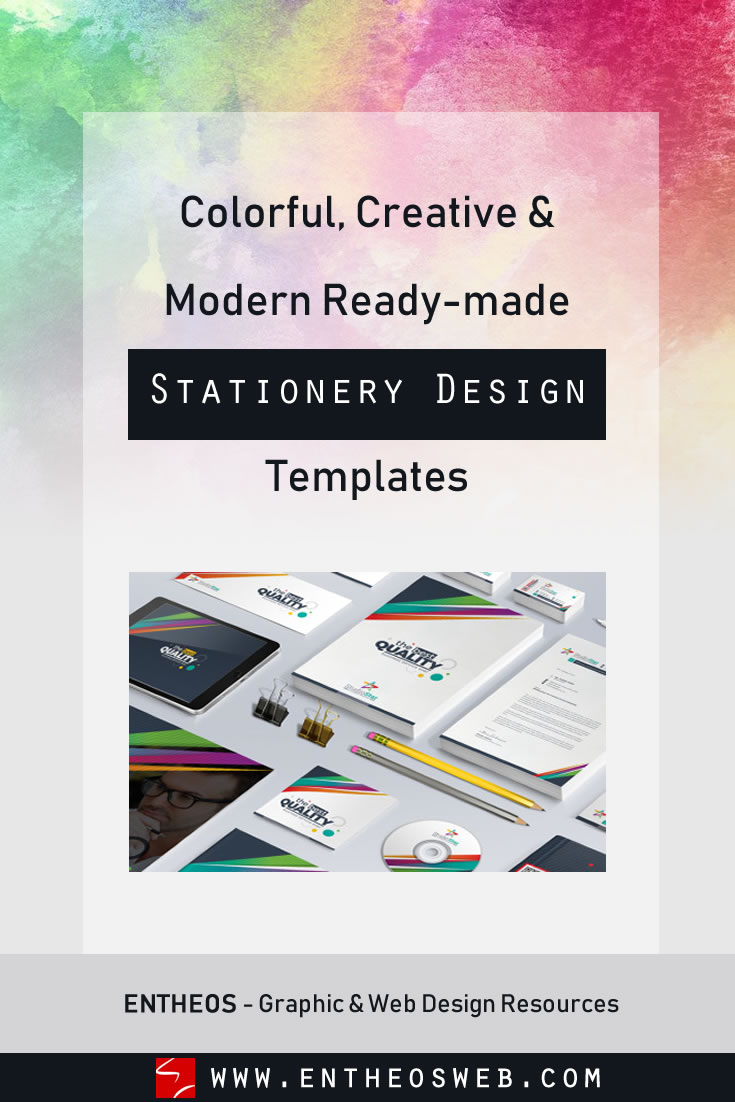 Colorful, Creative & Modern Ready-made Stationery Design Templates