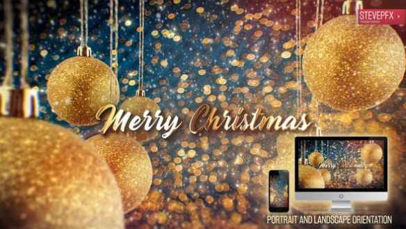 Christmas Wishes  and New Year Wishes 2020 - Animated Baubles, Snow Effect and Beautiful Gold Text