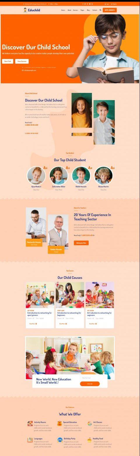 Educhild - Child Education Responsive WordPress Theme