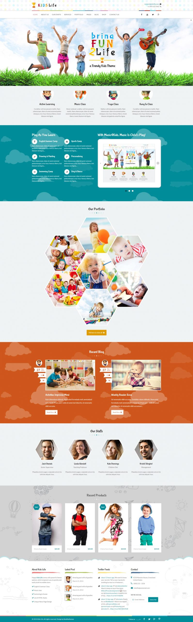 Kids Life - A Trendy and Fun Kids HTML5 Template With Amazing Animation and Parallax Effect