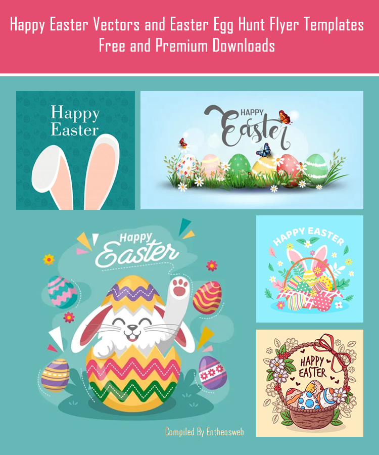 Happy Easter Vectors and Easter Egg Hunt Flyer Templates – Free and Premium Downloads