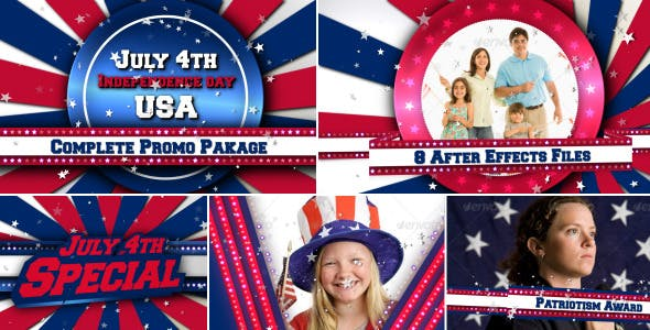 July 4th USA Patriotic Video Broadcast Promo Pack