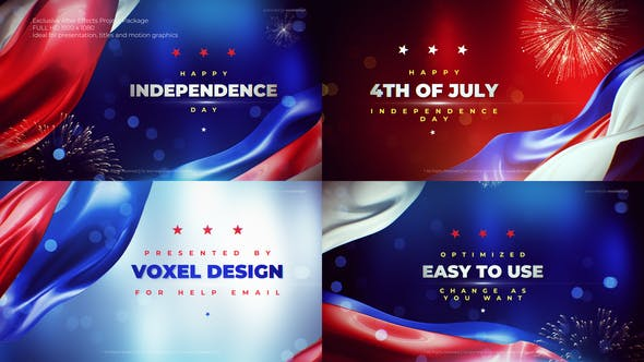 USA Independence Day After Effects Full HD Video