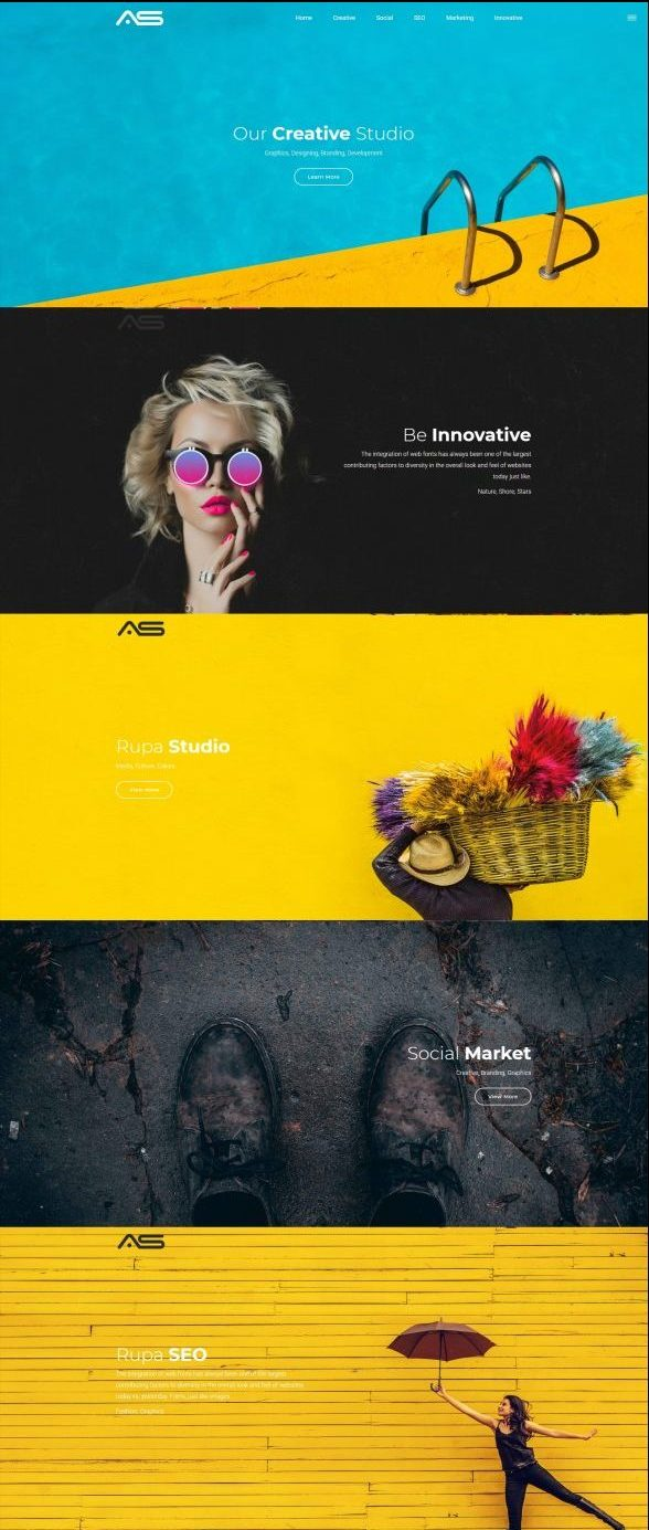 Rupa | Innovative Portfolio HTML5 Landing Page Template
