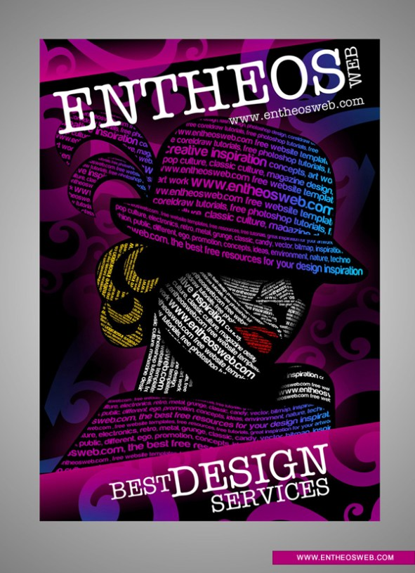 Text driven Design - Typography Graphic Design in CorelDraw