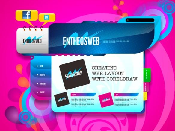 Website Layout Design in CorelDraw