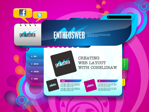 awesome website layout design
