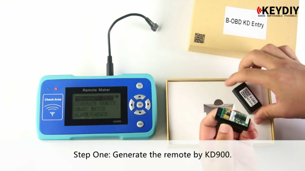 how to use KEYDIY ENTRY B-OBD to turn your Smartphone into a Car