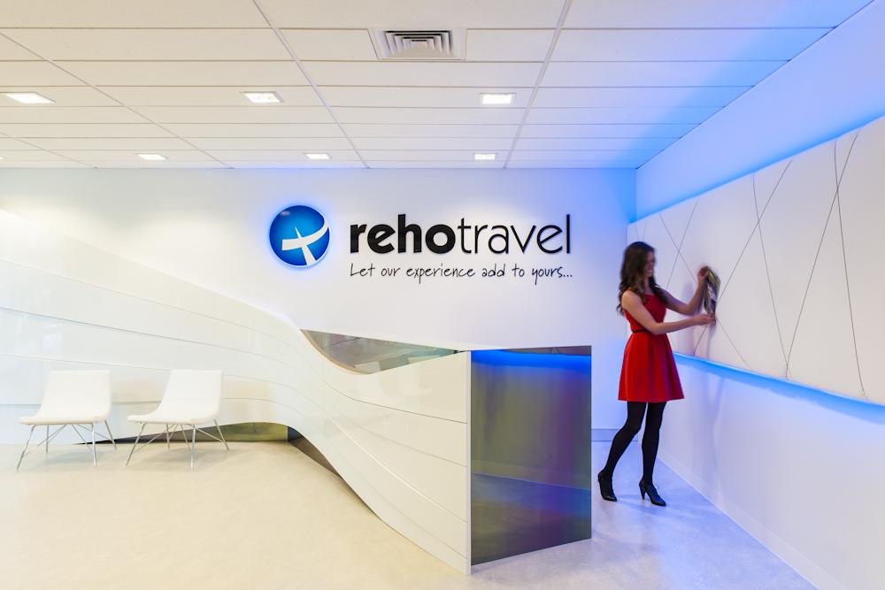 Reho travel by spectrum interiors australia eoffice for Travel agency office interior design