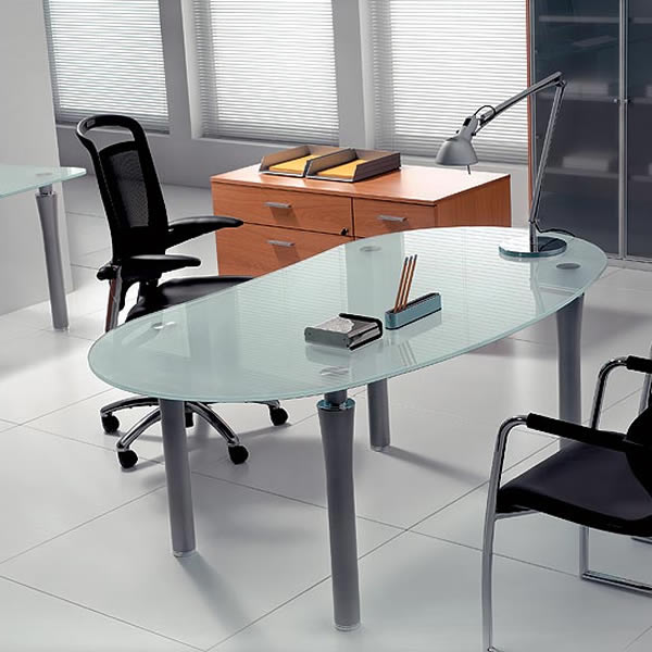 Planscape Glass Office Desk