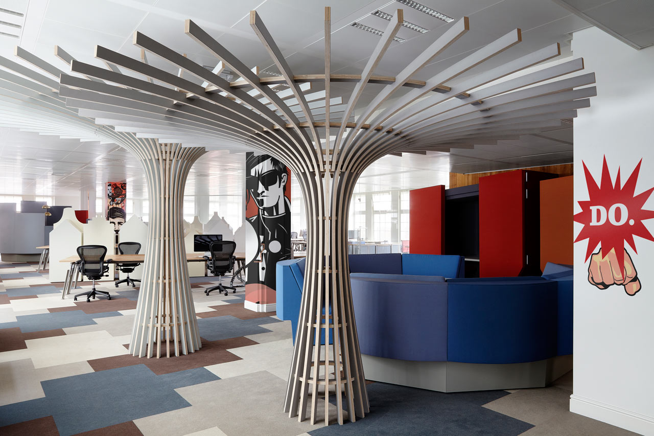 cool things for an office. Workspace-fun-colorful-with-awesome-attractions-and-unique- Cool Things For An Office 7