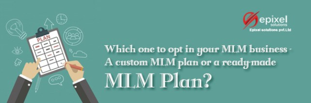 Which one to opt in your MLM business - A custom MLM plan or a ready-made MLM Plan