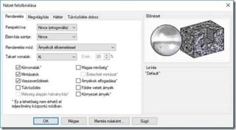 Solid Edge 2020 renderelési beállítások