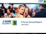 E-Score Annual Report