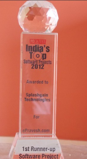 ePravesh.com has won award of India's TOP Software Project 2012 from  PC Quest