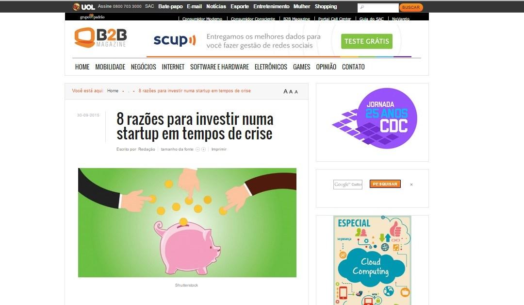 8 razões para investir numa startup em tempos de crise