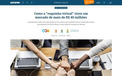 """Como a """"vaquinha virtual"""" virou um mercado de mais de R$ 40 milhões"""
