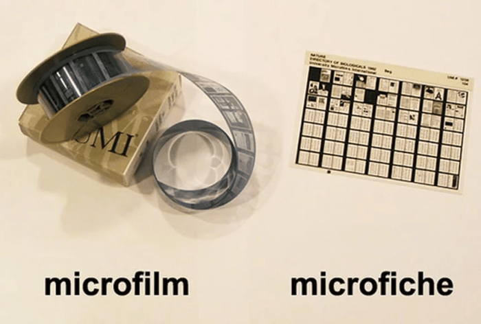 microfiche and microfilm scanning