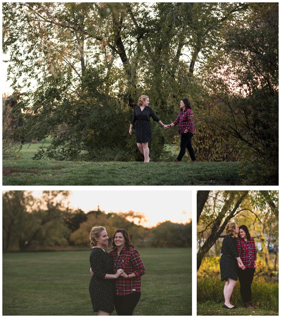 engagement photos location regina local park lgbt couple