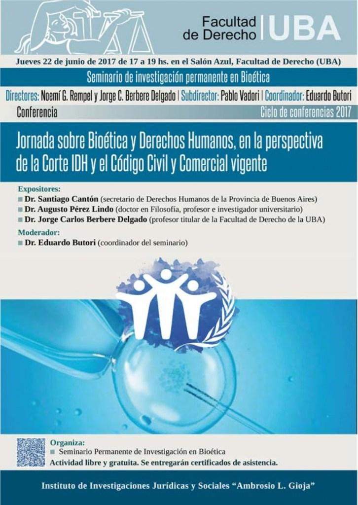 Erreius estará presente en la Jornada sobre Bioética y DDHH de la UBA