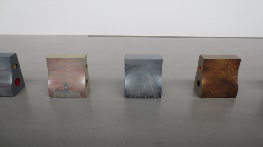 Yin Xiuzhen, Traffic Barrier Series, 2013