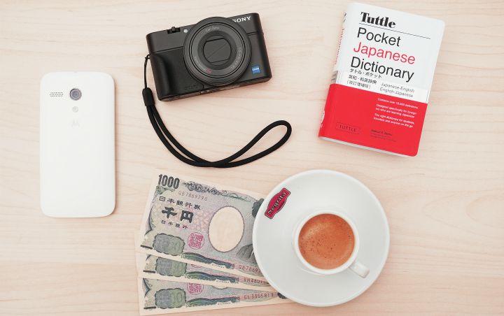 camera dictionary coffee phone money