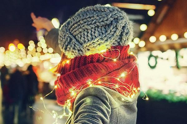 girl christmas market