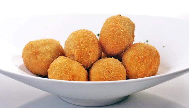 Las croquetas de jamón ibérico, presentes, cómo no, en los dos menús especiales de Arzábal.