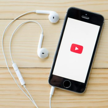 Phone With YouTube Logo